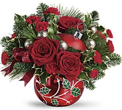 Teleflora Holly Ornament Bouquet