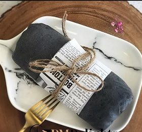 Charcoal Rose Crepes Roll