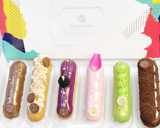 Assorted Box of 12 Éclairs