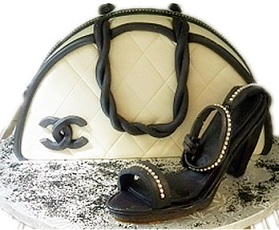Purse and Shoe Cake
