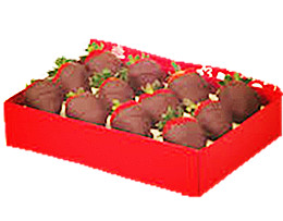 12 Belgian dark strawberry box