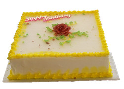 Butter/chocolate cake square 8 inch
