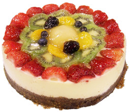 Mixed fruit cheese cake