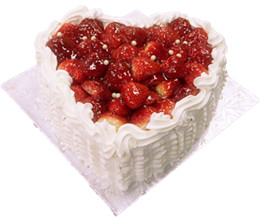 Strawberry short cake (Heart shape)