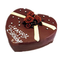 Heart cake (chocolate)