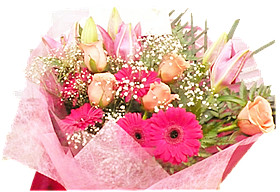 Pink orange day bouquet