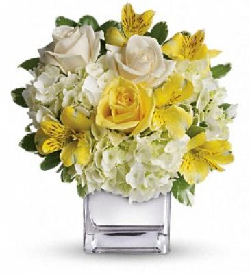 Yellow white theme arrangement