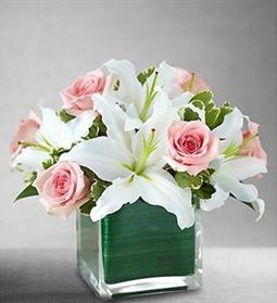 Pink white arrangement