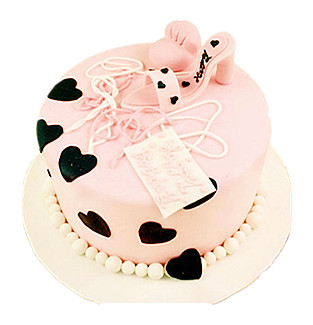 Pink love shoes cake