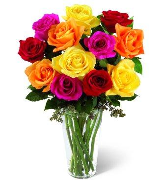 Medium mixed roses (dozen)