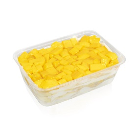 Mango Soya Custard Cake Box