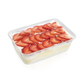 Strawberry Soya Custard Cake box